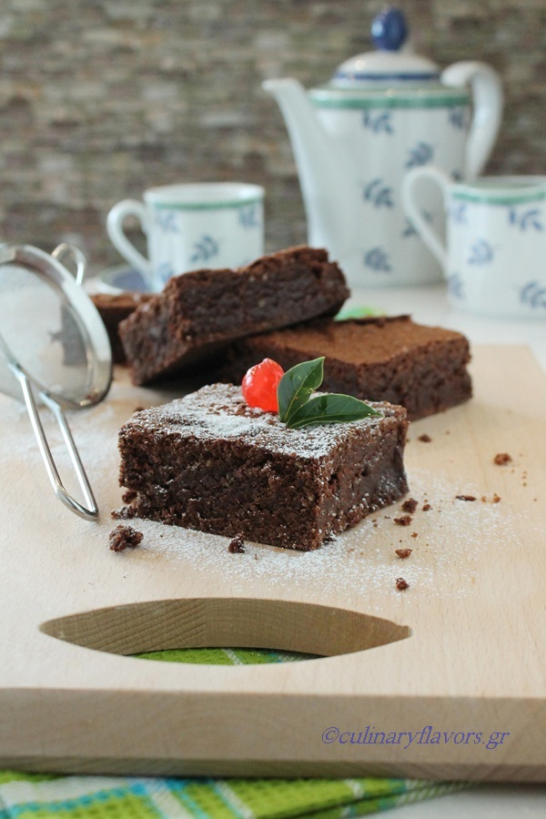 Brownies with Zucchini and Tahini Frosting