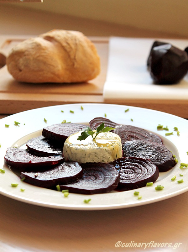 Roasted Beetroot with Aromatized Feta