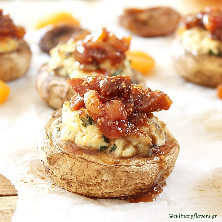 Anthotiro Stuffed Mushrooms