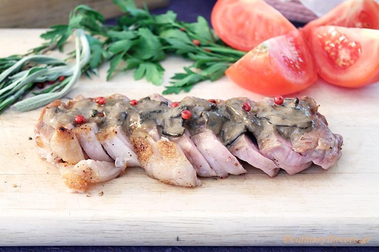 Steak in Brandy Mushroom Sauce