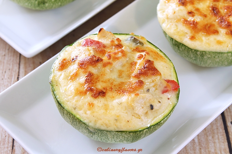 Zucchini Baskets with Chicken
