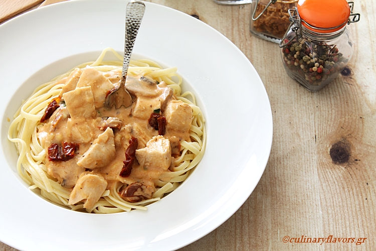 Creamy Chicken Pasta with Sun Dried Tomatoes
