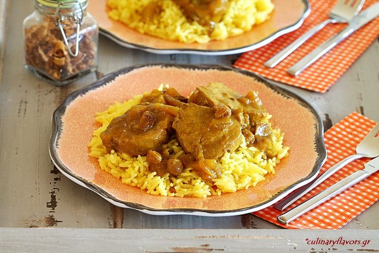 Pork Tenderloin with Apples in Beer and Curry Sauce