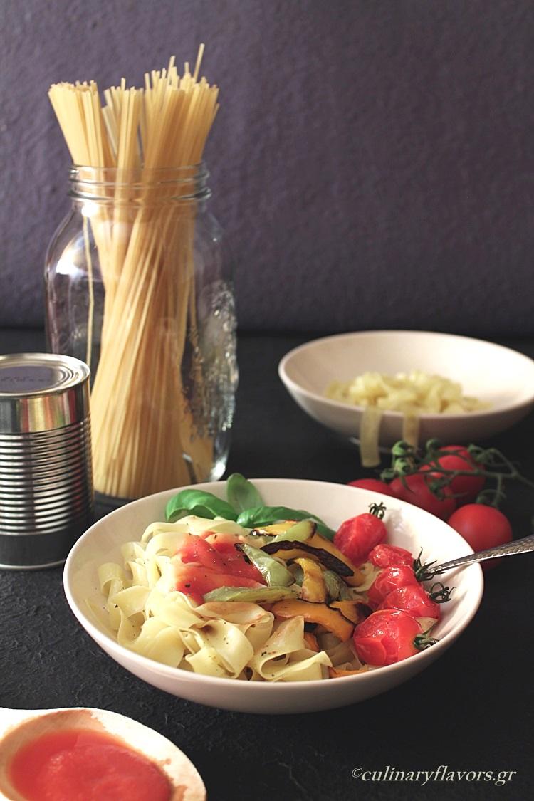 Roasted Veggies Tagliatelle