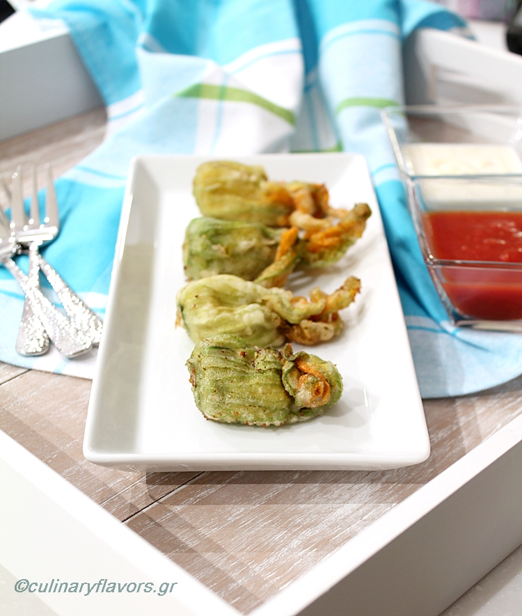 Zucchini Blossoms with Cheese