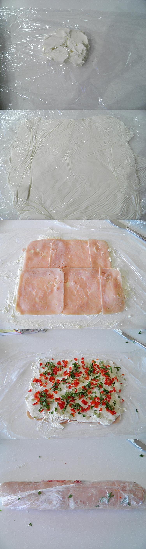 Cream Cheese Ham Rolls
