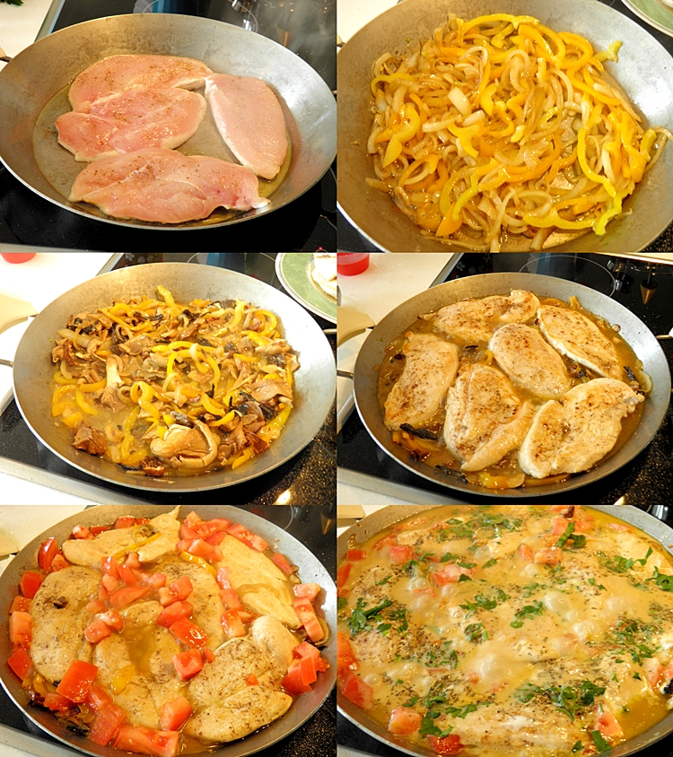 Chicken Breasts with Wild Mushrooms and Cheese