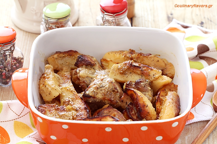 Pork Roast with Greek Potatoes