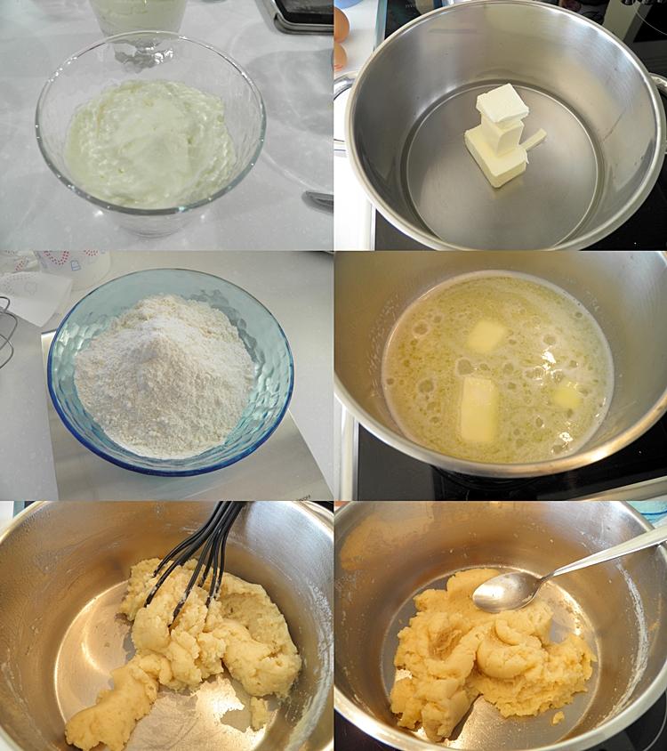 Profiteroles Ice Cream and Warm Chocolate Sauce