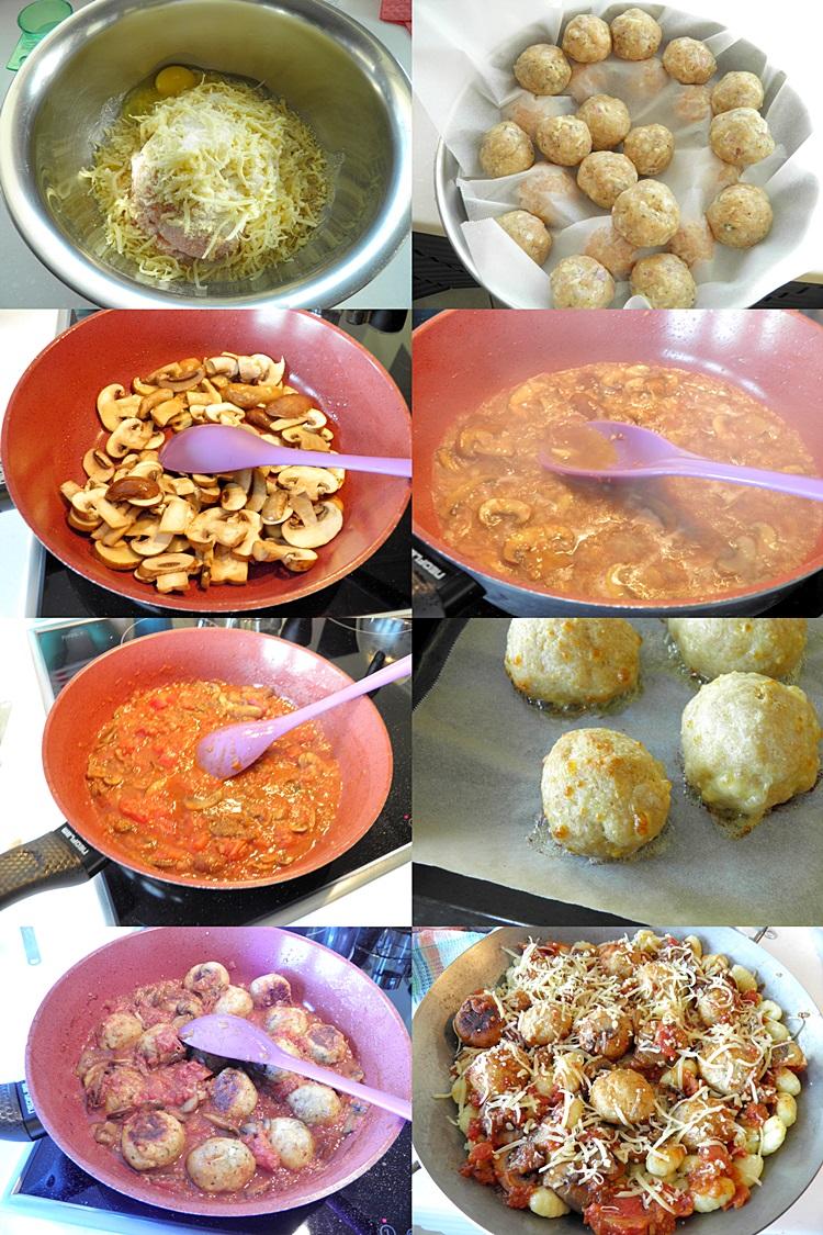 Chicken Meatballs with Gnocchi